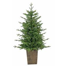 4 Ft Pre Lit Christmas Tree by Sterling 4 Ft Pre Lit Led Potted Natural Cut Freeport Pine