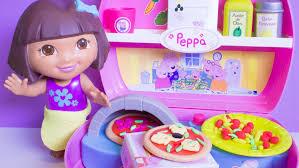 Dora The Explorer Fiesta Kitchen Set by Peppa Pig Mini Pizzeria With Dora The Explorer Chef Dora La