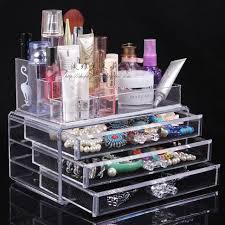 Quality Transparent Desktop Cosmetics Organizer Box Storage Jewelry Skin Care Products Perfume Display Rack