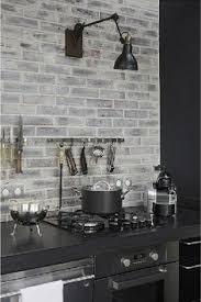 soapstone counter with painted brick backsplash kitchen