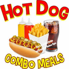 100 Hot Dog Food Truck Combo Meals DECAL Choose Your Size Concession