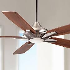 52 minka aire dyno brushed nickel ceiling fan 4n698 ls plus