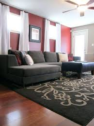 Living Room Red Accents Accent Wall Pretty Walls In The Neutral With