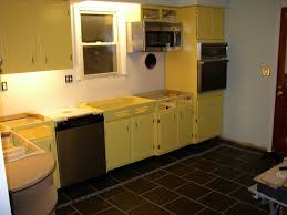 Inspiring Kitchen Decoration Using 1960s Cabinet Ideas Beauteous Yellow