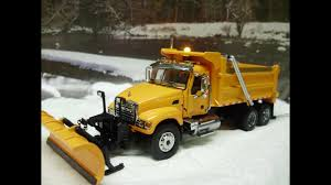 100 Truck With Snow Plow Custom 64th Scale Mack Granite Dump Truck W Plow And Working Lights