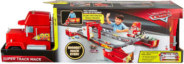 100 Disney Cars Mack Truck Hauler Pixar Super Track Playset Red FPK72 Best Buy