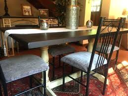 Large Rustic Dining Table Bar Height Size Of Room