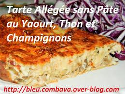 tarte salée allégée sans pâte au yaourt thon et chignons ma