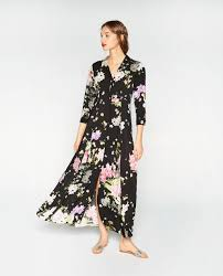 floral print dress view all dresses woman zara united states