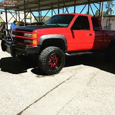 100 Black And Red Truck Rims Chevrolet Silverado 1500 XD Series XD128 Machete Wheels And