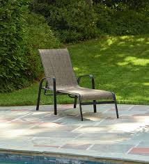 Stack Sling Patio Lounge Chair Tan by Essential Garden Bartlett Stacking Lounge Limited Availability