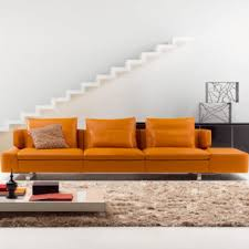 natuzzi canape orange sofa