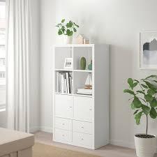 kallax étagère avec 4 accessoires blanc 77x147 cm ikea