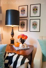 View In Gallery DIY Skull Wall Art For Halloween