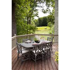 Wayfair Patio Dining Sets by Polywood Chippendale White 7 Piece Patio Dining Set Pws121 1 Wh