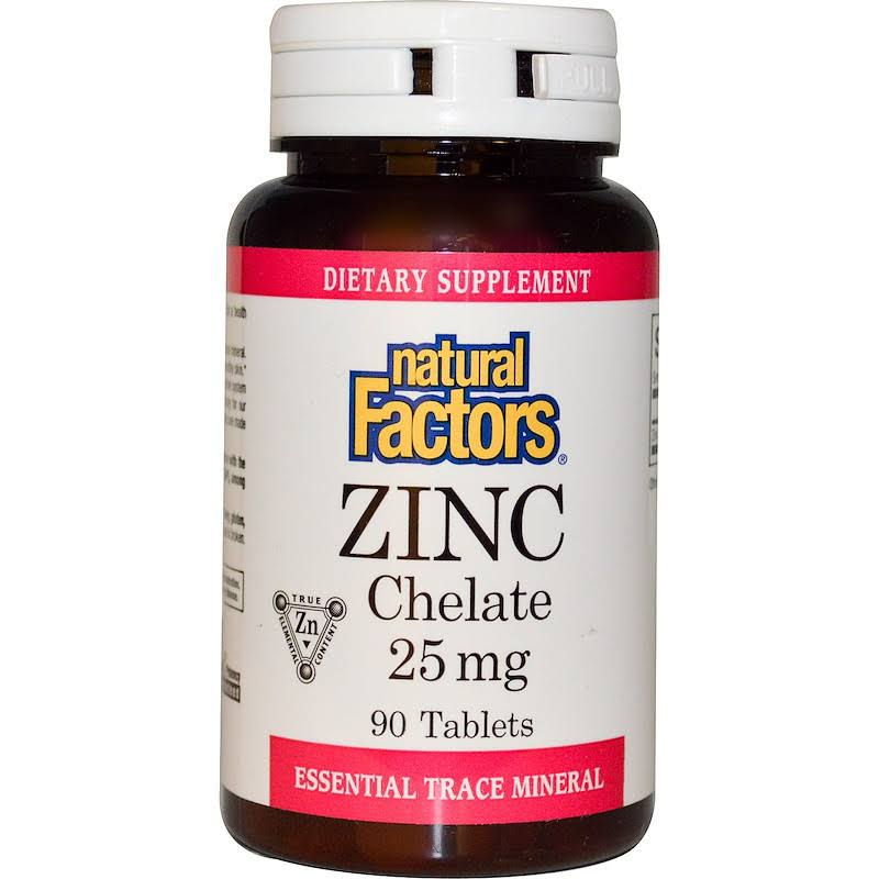Natural Factors Zinc Chelate - 90 Tablets, 25mg