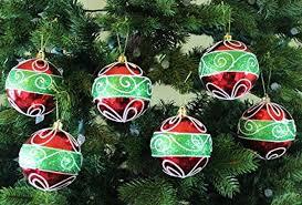 Festive Season Classic Christmas Shatterproof Ball Ornaments Tree Decorations Set Of 6