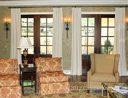 Umbra Curtain Rod Target by Decorating French Door Curtains For Cute Interior Home Decorating