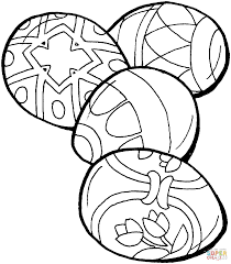Easter Eggs Coloring Pages Free