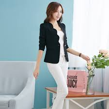 New Fashion 2018 Spring Autumn Women Suit Jacket Coat Solid Color Slim OL Ladies Work Wear Blazer Feminino Chaquetas Mujer J1421 In Blazers From Womens