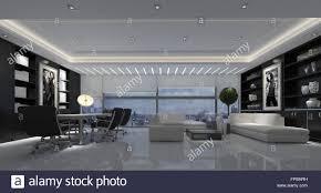 große offene moderne wohnzimmer mit esstisch und stühlen und