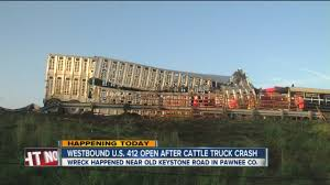 Westbound U.S.412 Lanes Open After Cattle Truck Crash - YouTube Semitruck Cattle Accident Youtube Video Appears To Show Live Cow Scooped Up In Dump Truck After Semi Overturns Near Okarche Kforcom Trailer Flips On E Highway 50 No 17 Richardson Bros Beef Central Truck Ploughs Through Herd Of Cattle Ladysmith Gazette Crash 1 Clarksvillenowcom Westbound Us412 Lanes Open After Crash Spill Cleaned With A Lot Help Krvn Radio Crashes Hwy 15 News Channel Nebraska Causes Problems I71