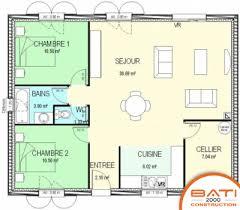maison plain pied 2 chambres plan maison individuelle 2 chambres 93 habitat concept plain pied 1