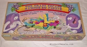 1992 Grape Escape Board Game