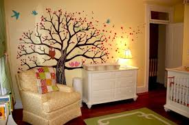 Tree Wall Decor Ideas by Gorgeous Baby Room Ideas Stickers With Paint Trees Art Wall Decor