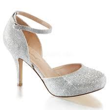 silver 3 1 2 inch heel 1 2 inch hidden platform closed toe high