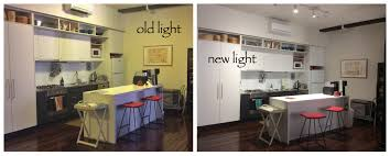 Kitchen Light Before After
