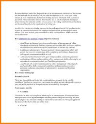 resume objective for executive assistant administrative assistant