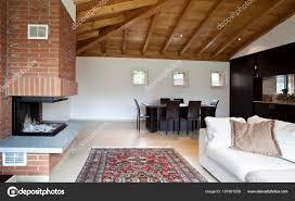 100 Villa Interiors New Home Interiors Furnished Loft Villa Stock Photo