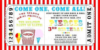 Fresh Carnival Ticket Invitation Template Free Printable Movie Templates Awesome