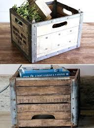 Wood Milk Crate Found Vintage Wooden Ideas