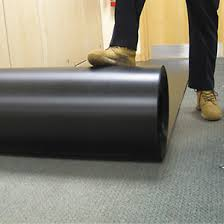 TEMPROR Corrugated Plastic Roll Floor Surface Protector 1M X 50M 2mm Black