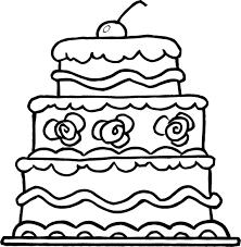 Detail worksheet of elegant three wedding cake