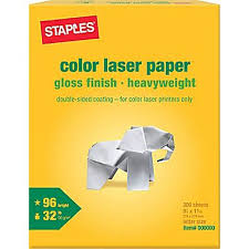 Staples Color Laser Paper X Glossy Fresh Printing Cost Per Page