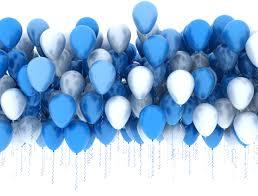 Image de la catégorie Blue and white balloons