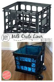 How To Make A Liner For Plastic Milk Crate Rolling Cart