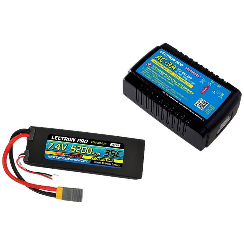 Common Sense RC PP-028 - Ac-3a Charger + 1 x 7.4V 5200mah 35C w/ XT60
