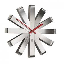 Bed Bath And Beyond Decorative Wall Clocks by Wall Clocks Modern Futura Designer Wall Clock Brushed Aluminum