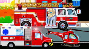 Fire Truck, Ambulance - Cars For Kids : My Town Fire Station Rescue ...