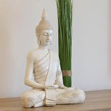 dszapaci buddha figur groß 40cm sitzender thai statue