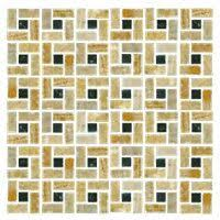 midtown new white glass mosaic tile 12 x 12 in