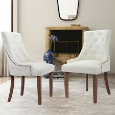 Set Of 2 Beige Elegant Fabric Accent Dining Chairs Tufted Pattern ... How To Recover A Ding Room Chair Tessie Fay Black Fabric Chairs Seat Cushions Zf Collections Apart With Wood Print Metal Legs Set 10 Cream Brown Beautiful Abstract Pattern Loving Tango And James Black White Prints Home And Such In Fniture Cheap Parsons For Match Your Table Chair Slipcover Tutorial How Make Parsons Impressive Reupholstering With Bestchoiceproducts Best Choice Products Of 4 Midcentury Modern Amazoncom Christopher Knight Home Kalee Yellow Grey