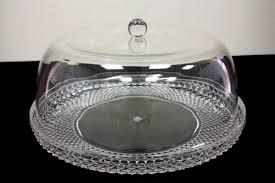 DiamondWare Acrylic Plastic Cake Plate with Dome Lid