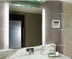 lighted wall mirrors for bathrooms magnificent lighting design