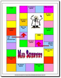 Mad Scientist Vocabulary Game Freebie