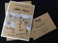 DIY Rustic Lace Wedding Invitation Customizable